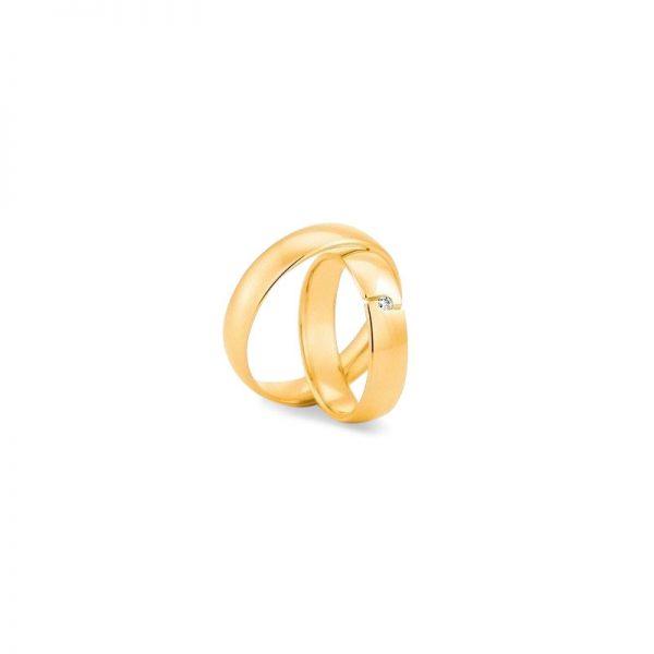 Argollas de matrimonio en oro amarillo de 18k