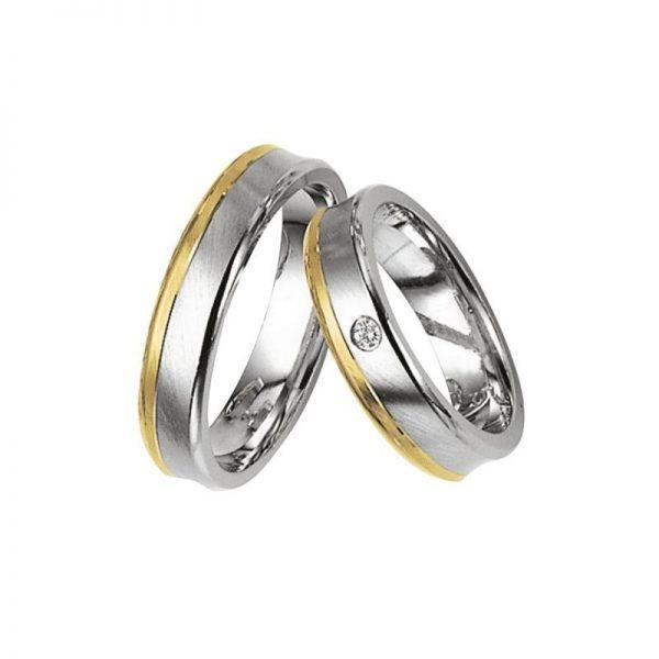 Argollas de matrimonio en oro blanco de 18k